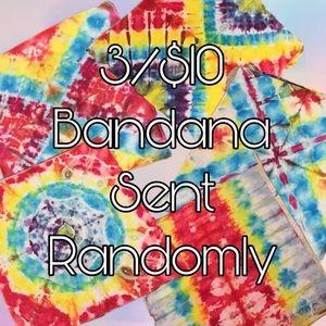 3/$10 Tie Dyed Bandanas